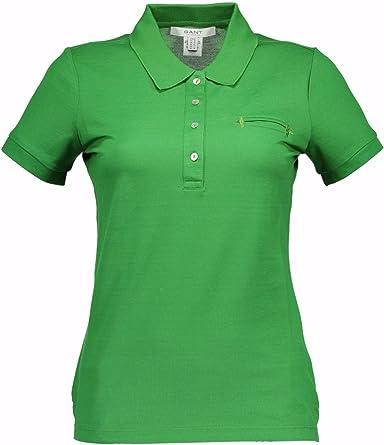 Gant 1201.403235 Polo con Las Mangas Cortas Mujer Verde 305 S ...