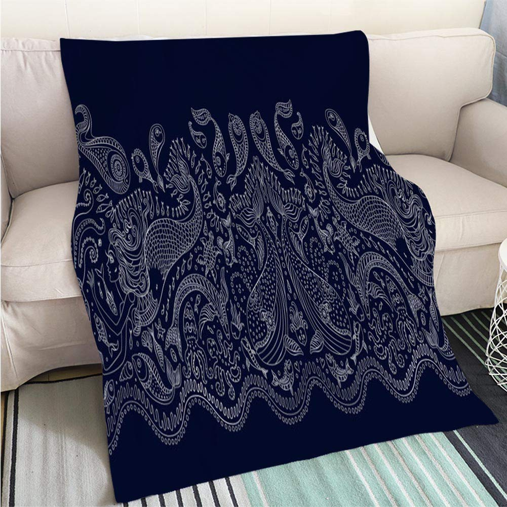 color7 31 x 47in BEICICI Comforter Multicolor Bed or Couch Vector Seaside top View Illustrations Fun Design All-Season Blanket Bed or Couch