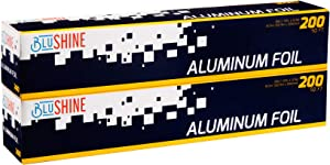 [ 2-Pack Aluminum Foil ] – of 200 Square Foot Roll - 12 Inch Silver Paper Wrap - Chemical & Toxin-Free Food Wrapping Paper - Safe for Grill - (400 Sq. Feet)