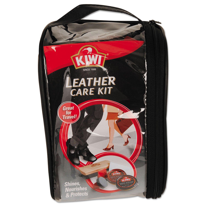 SC Johnson CB145003 KIWI Leather Care Travel Kit Black/Brown 6/Carton