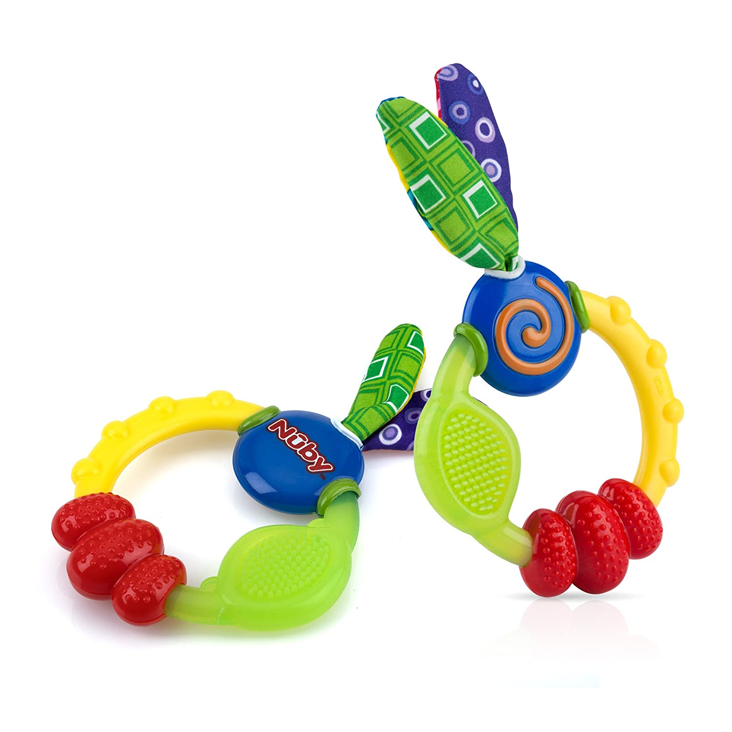 Nuby Wacky Teething Ring (2 Pack)