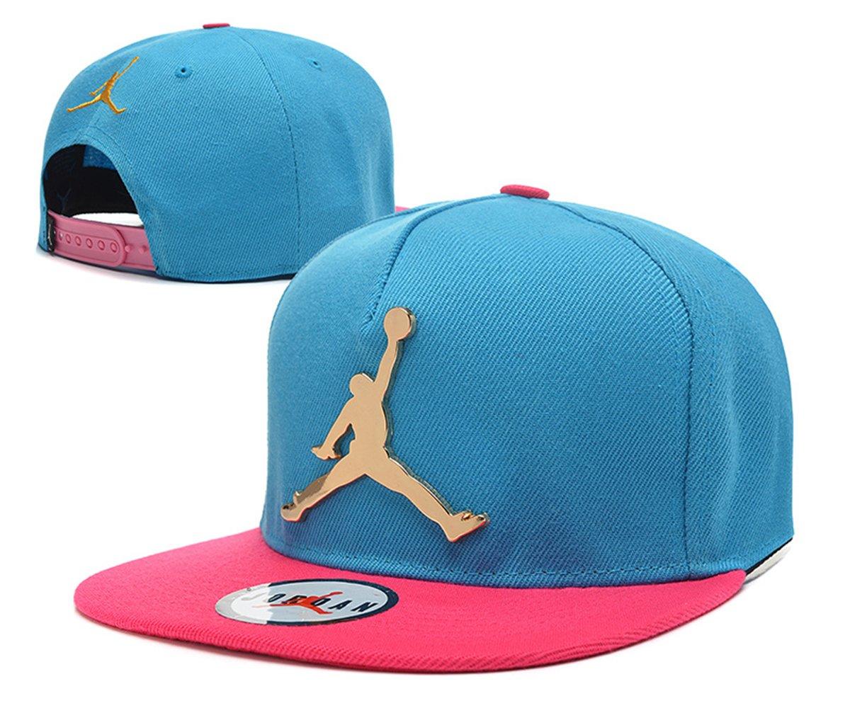 Jordan snapback sombreros / gorras (rosa con el logotipo de metal ...