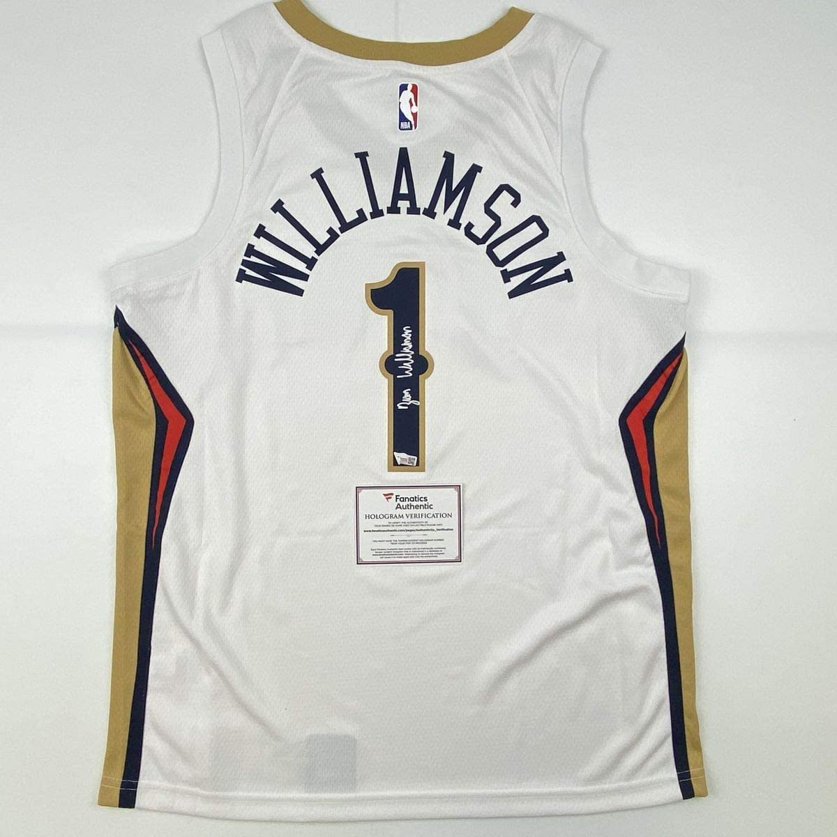 Autographed/Signed Zion Williamson New Orleans Pelicans White Swingman Nike Basketball Jersey Fanatics COA