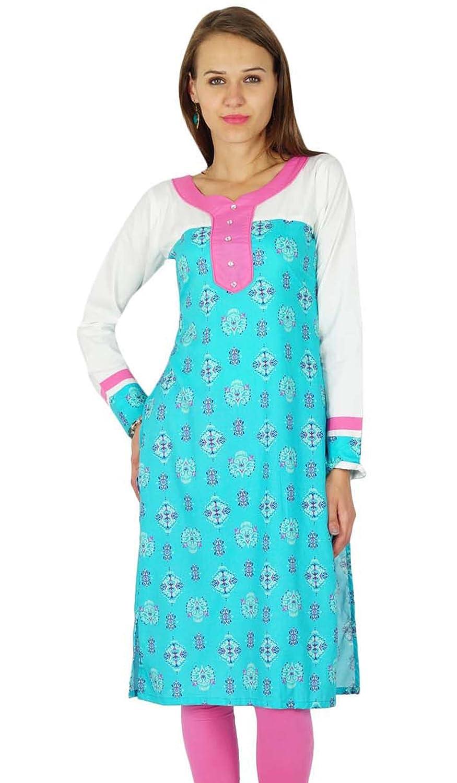 phagun bollywood kurta Designer Frauen ethnische kurti Baumwolle Tunika-Kleid