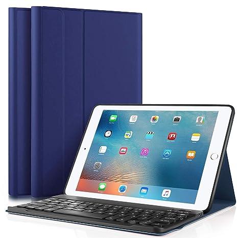 Funda para teclado de iPad 2018, iPad 9.7 2017, iPad Air 2, iPad
