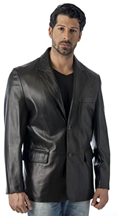 REED MEN'S LEATHER BLAZER JACKET (IMPORTED) at Amazon Men's
