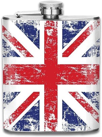 Petaca pequeña de acero inoxidable con diseño de bandera de ...