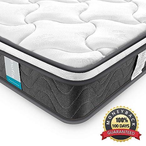 Amazon.com: Inofia Sleeping Colchón de muelles entrelazados ...