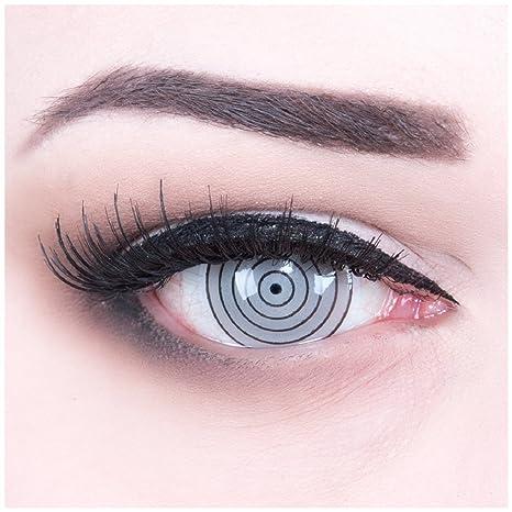 funnylens un par de colores Grey 17 mm Crazy FUN rinnegan Eye Año Diseño lente.