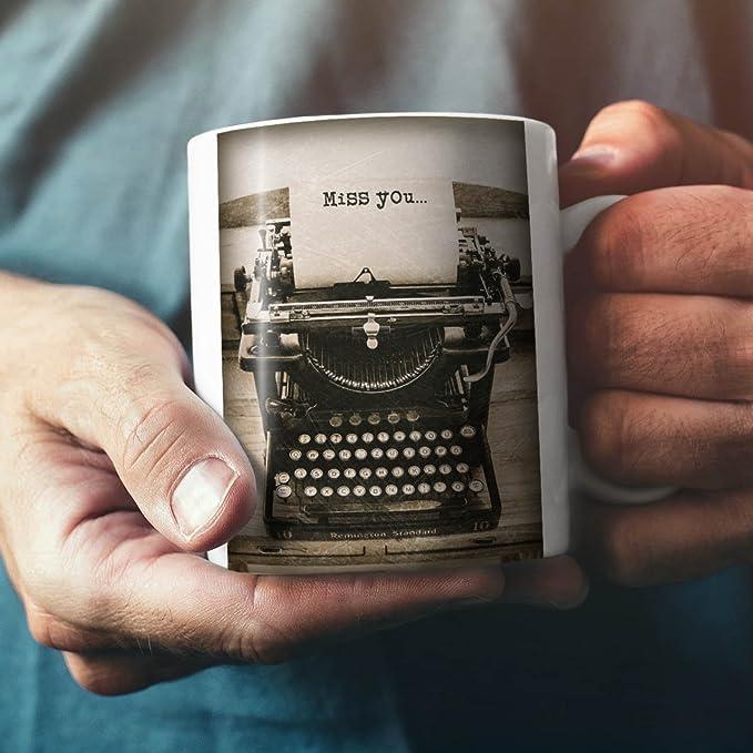 Wellcoda - Taza de café de cerámica con diseño de máquina de Escribir Remington estándar, 312 Gramos.: Amazon.es: Hogar