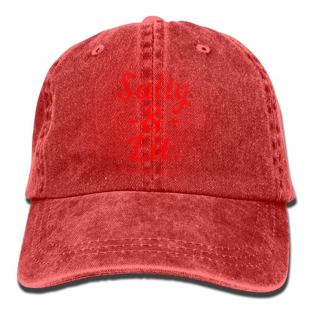 f096c0cc771dd Shenigon Salty   Lit Christian Unisex Cowboy Baseball Caps Dad Hats Ash at  Amazon Men s Clothing store