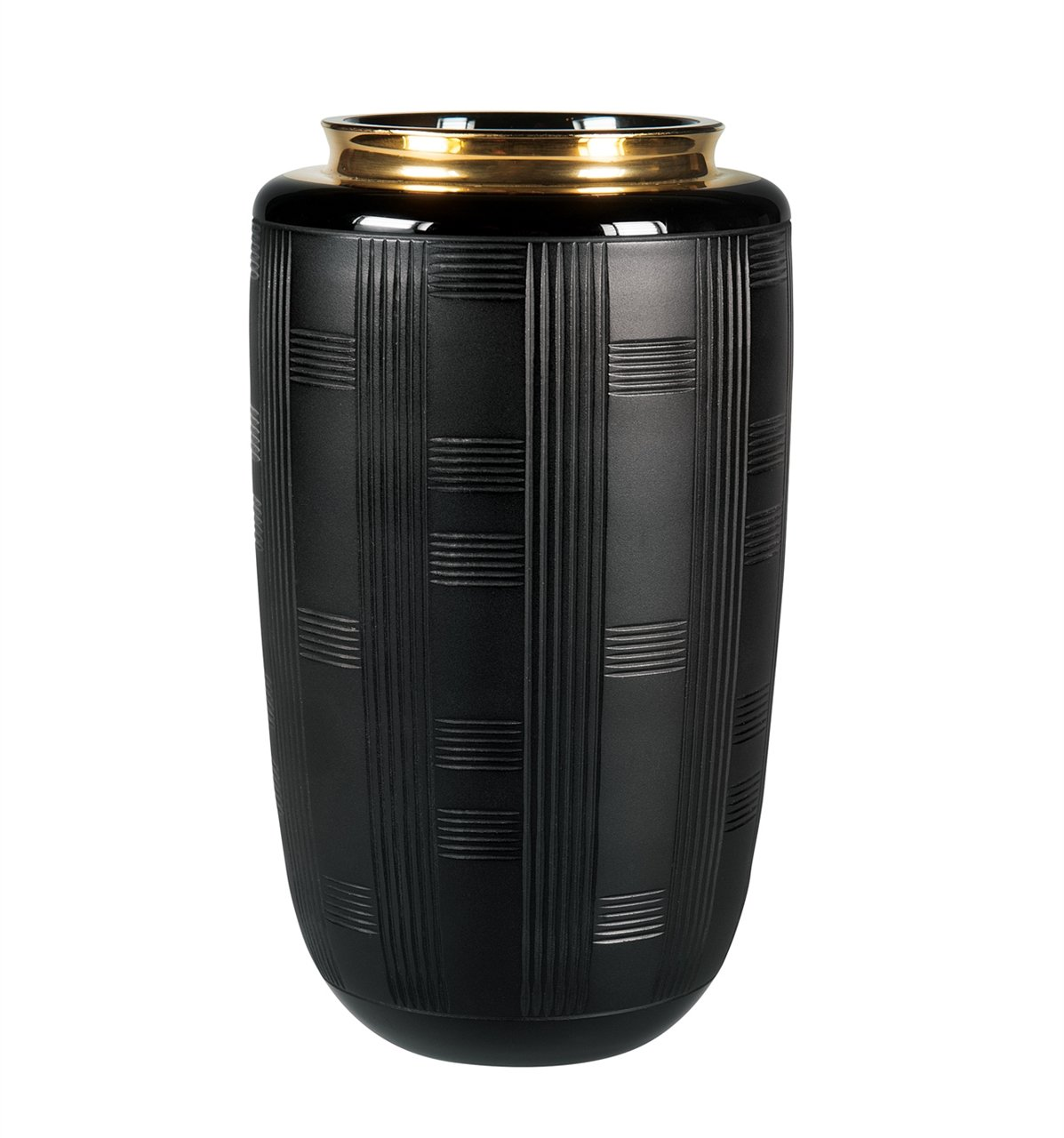 VISTA ALEGRE - Jet Black (Ref # 49000194) Case with Small Vase by VISTA ALEGRE - Jet Black (Ref # 49000194) Case with Small Vase