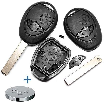 1x Mini Autoschlüssel Ersatz Gehäuse 2-Tasten Fernbedienung mit Rohling KS13