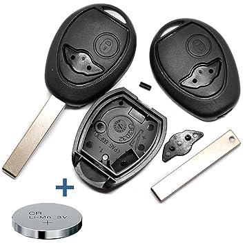 REPARAR el kit de reparación de la carcasa del mando a distancia de la llave del coche 2 botones en blanco + pila CR2032 para MINI