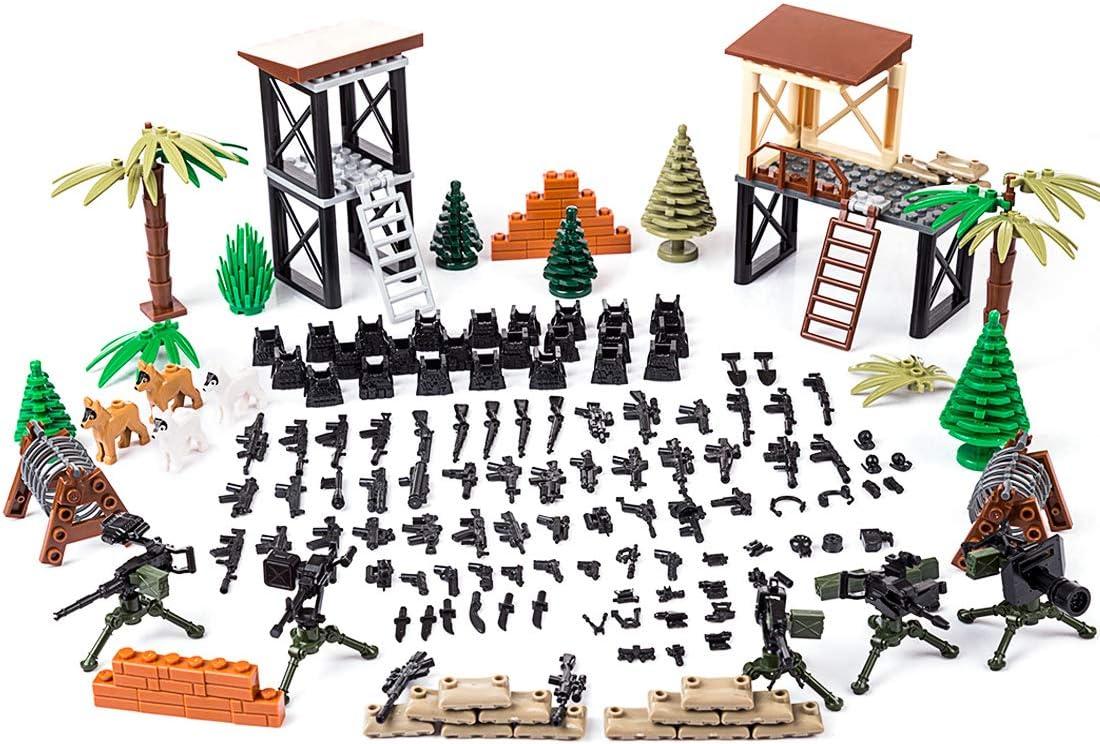MOEGEN Juego Militar de Escena de Batalla Personalizado para Las Minifiguras del Equipo SWAT de la policía, combina los Bloques de construcción Principales
