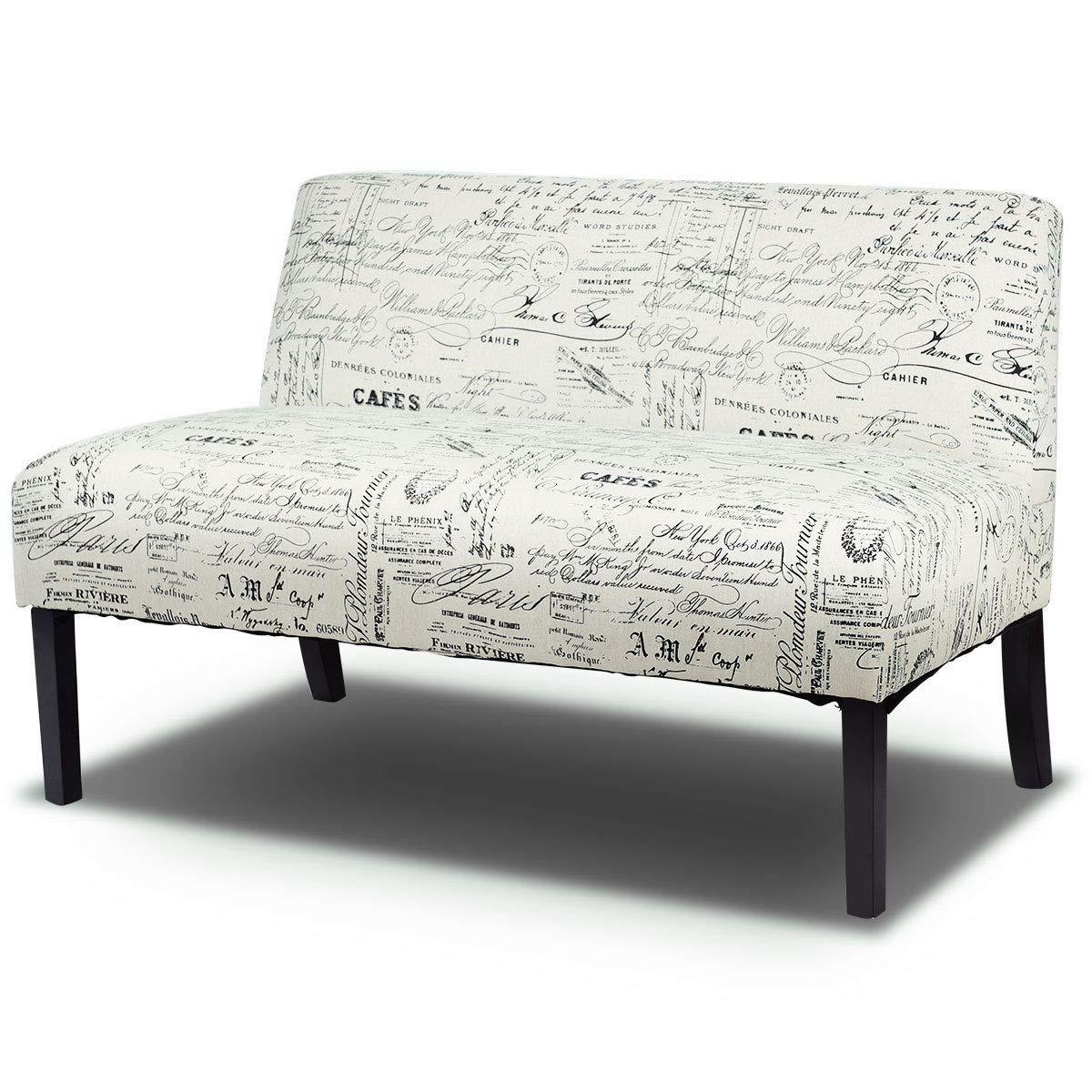 Amazon.com: Giantex Sofá moderno sin brazos para salón, de ...