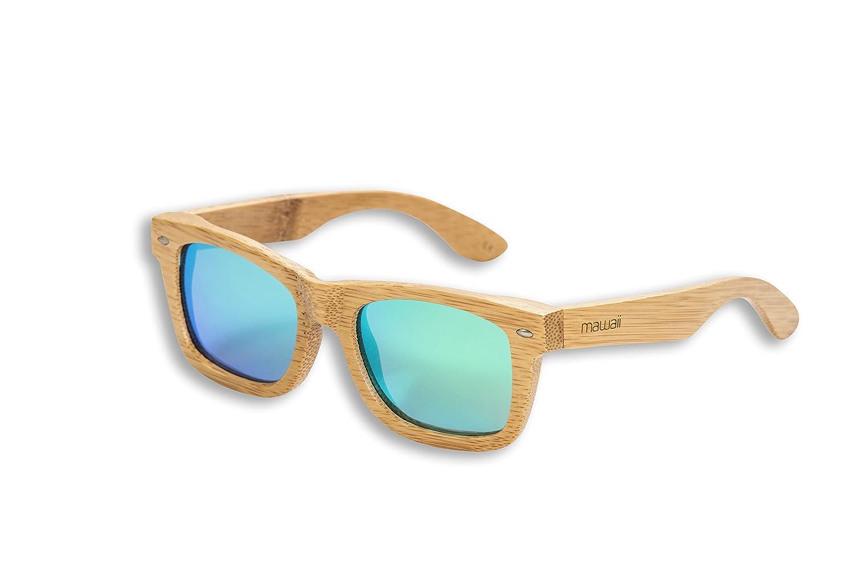 Mawaii Modell Ahua MATA Polarized Lenses-FGV (Feel Good Vision) -inklusive Bambus-Box und Mikrofaserbeutel Sonnenbrille, Natur-Holz, L