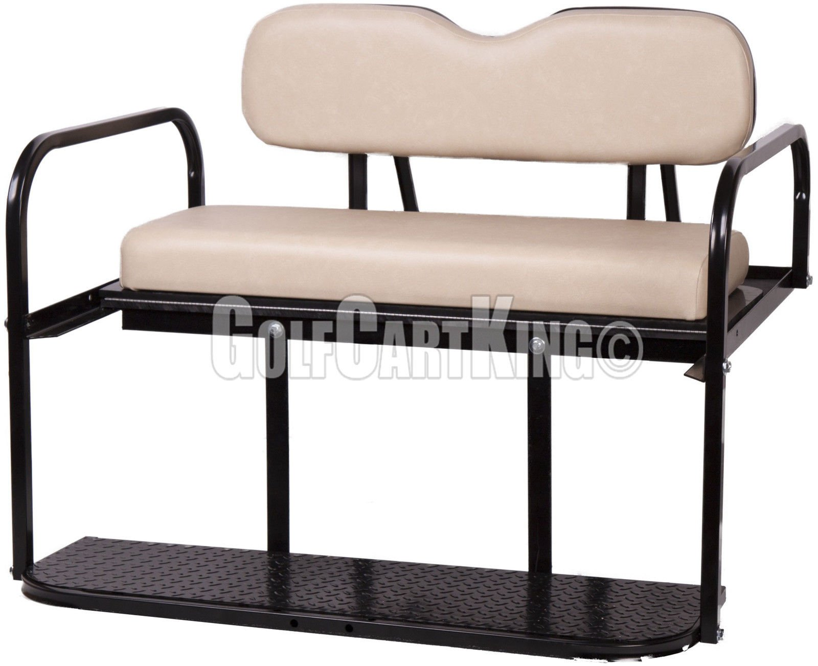 Club Car Precedent (2004 - Up) Golf Cart Rear Flip Seat Kit - Buff