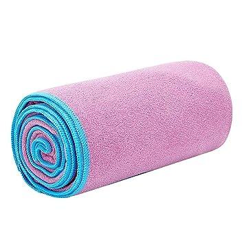 Yoga Microfibra Toalla para absorción de Humedad de la Cubierta Estera de Yoga para el Yoga Caliente Pilates Deportes: Amazon.es: Deportes y aire libre