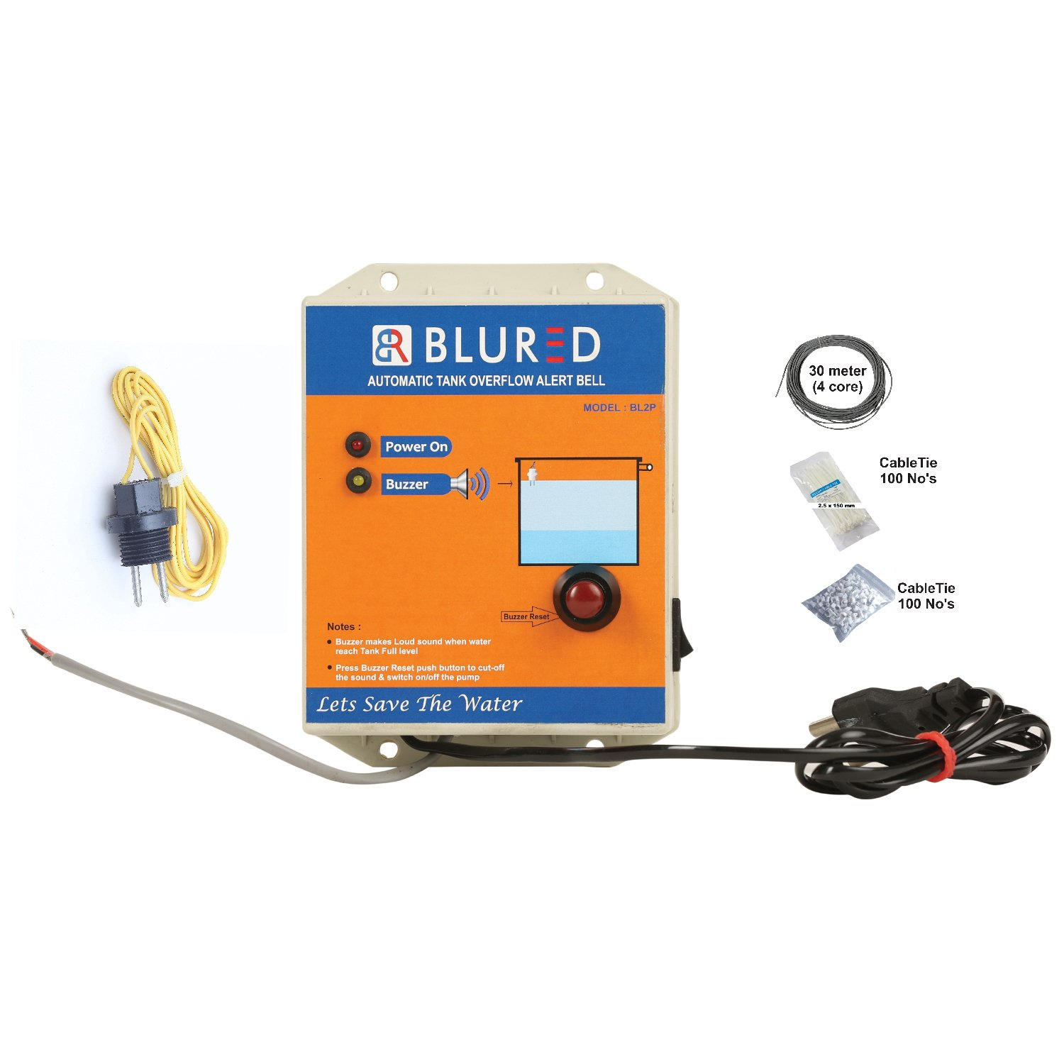 BLURED BL2P Water Tank Overflow Alert Bell: Amazon in: Home
