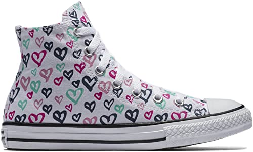 black converse with heart