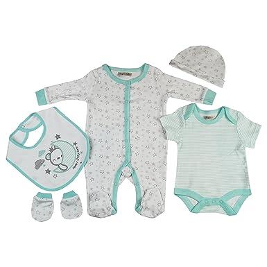 Presents Gifts for Newborn Baby Boys Girls Toddler Unisex Cute Clothing Sets  Sleepsuit Vest Bib Hat 1181cdb0f44a