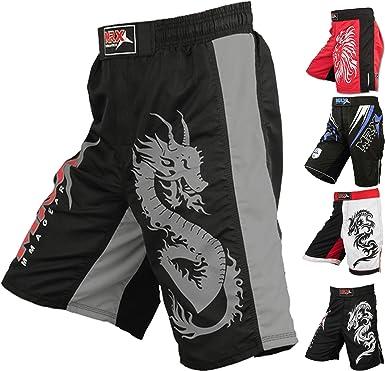 New Mens MMA FIGHTING SHORTS UFC CAGE GRAPPLING KICK BOXING MUAY THAI MARTIAL