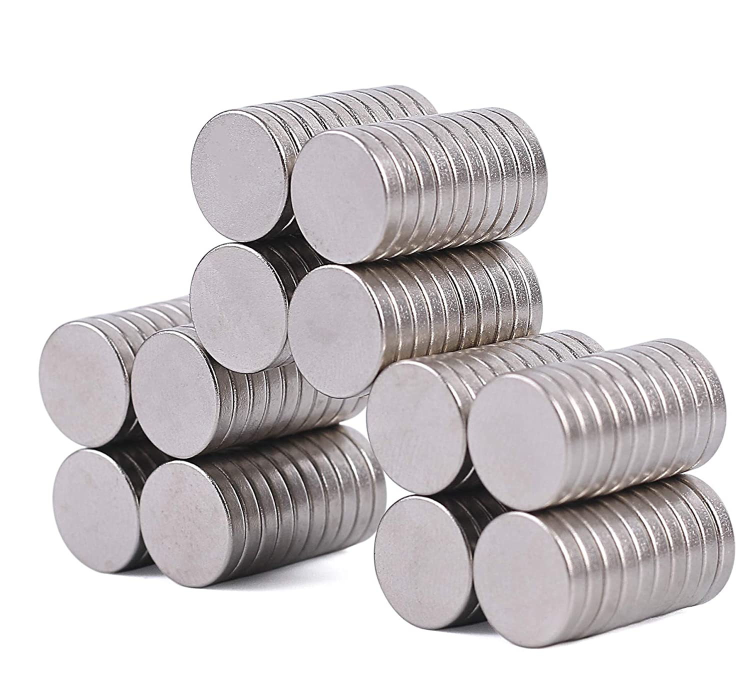 120 Fridge Magnets Neodymium Cylinder Fridge Magnets,10mm dia x 2mm thick, Rare Earth Disc Magnets Strong Magnets Fridge Door Whiteboard Magnetic Office Magnets, Durable Magnets Jineelrit