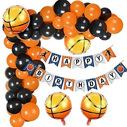 Amazon.com: Juego de globos de baloncesto con globos de ...