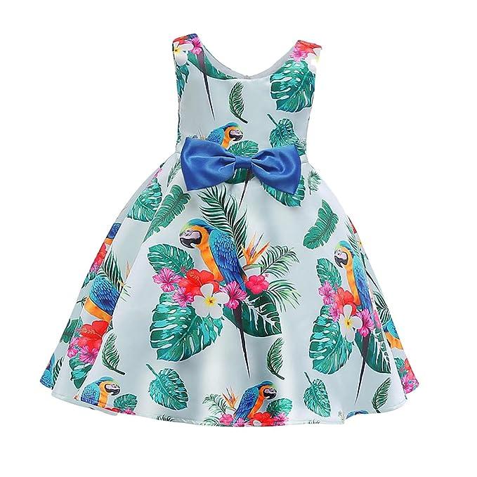 2f67e9227 P Prettyia Vestido Floral Loros Satén Niñas Cremallera Oculto De Moda  Atractivo Hermoso Cómodo Ropa de Chica Pequeña: Amazon.es: Ropa y accesorios