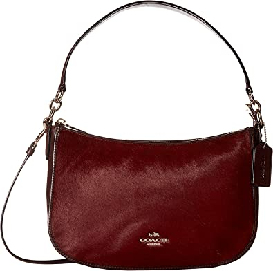 b96a1682af COACH Women s Haircalf Chelsea Crossbody LI Burgundy Cross Body  Handbags   Amazon.com
