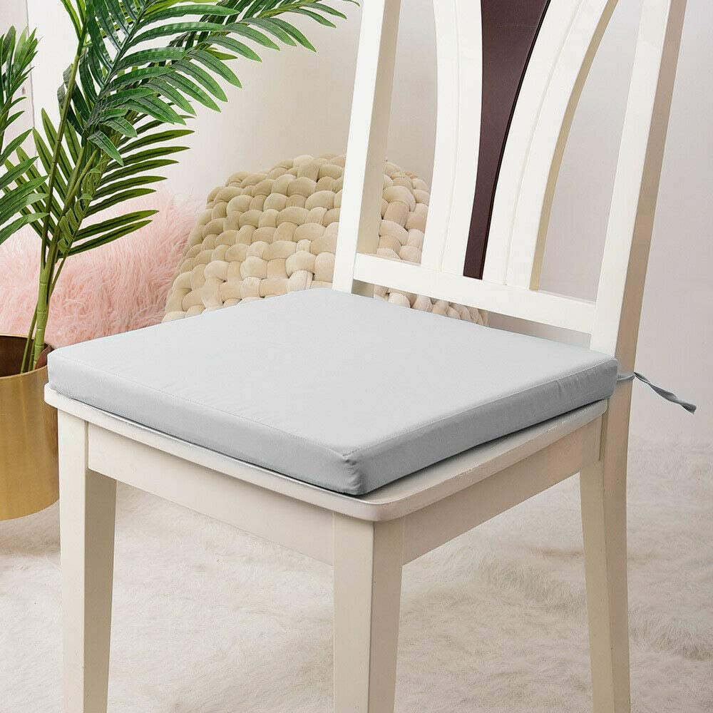 Ehd Waterproof Chair Seat Pads Super Soft Seat Cushions For Office Outdoor Kitchen Dining Room Patio Tie On Office Garden Chairs Silver 44x50 4cm Amazon Co Uk Kitchen Home