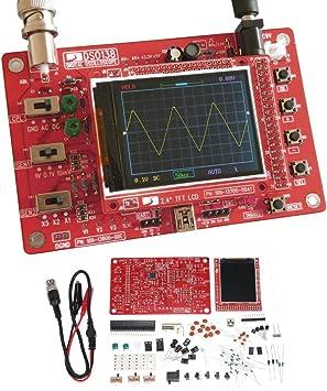 Vislone Dso138 Oszilloskop 2 4 In Tft Handheld Pocket Oszilloskop Diy Teile Kit E Learning Set 1msps Baumarkt
