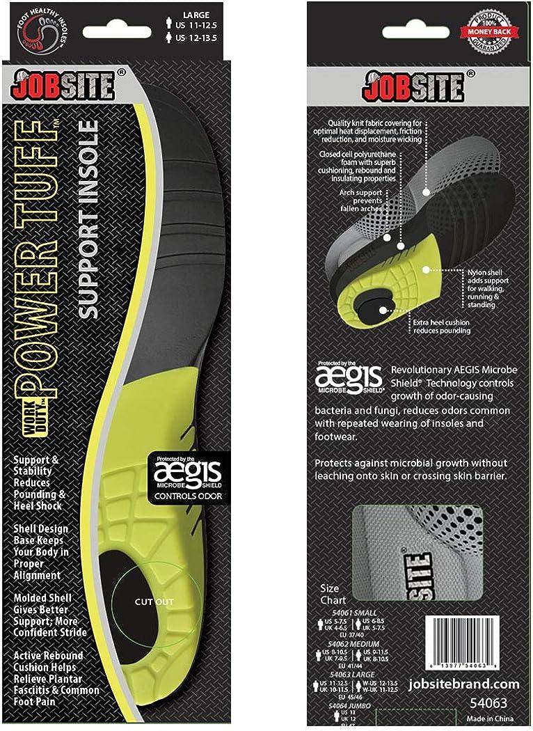 JobSite Semelles orthop/édiques Power Tuff Anti-Fatigue pour le travail