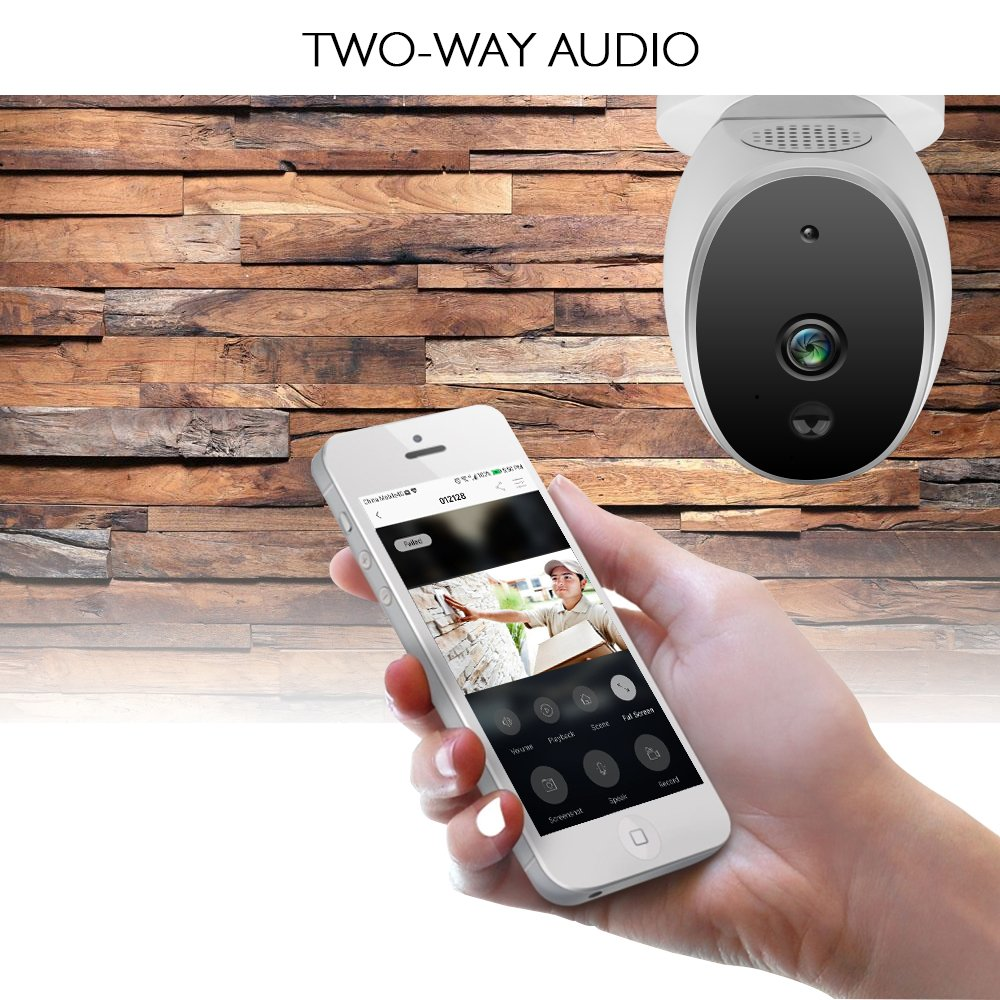 AKASO WIFI Security Camera, HD 720P Rechargeable Wireless IP Camera,Two-Way Audio,Night Vision,PIR Motion Detection, Indoor/Office/Home Surveillance/Baby Monitor, Powered by Batteries (Hawkeye 1) by AKASO (Image #4)
