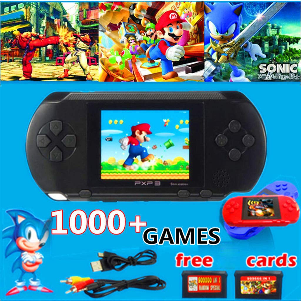 callm Handheld Game Console,2.7 inch Color Digital TFT Screen Handheld Video Console Street Fighers Final Fight Game Player - Build in 999888 Games (Black) by callm (Image #3)