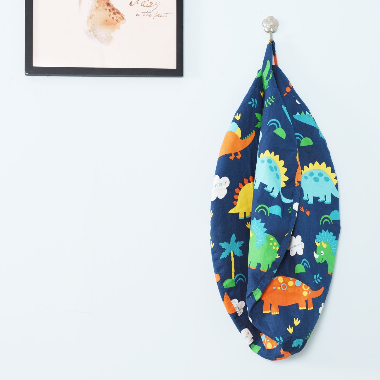 BROLEX 27'' Stuffed Animals Bean Bag Chair Cover-100% Cotton Canvas Kids Toy Storage Zipper Bags Comfy Pouf for Unisex Boys Girls Toddlar, Dinosaur Print by BROLEX (Image #6)