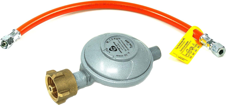 Rabenburg Regulador de presión de gas de 30 mbar, 1, 5 kg/h + ...