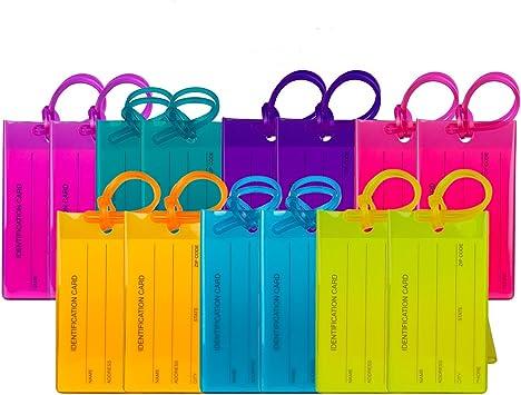 Amazon.com: TravelMore etiquetas de equipaje para maletas ...