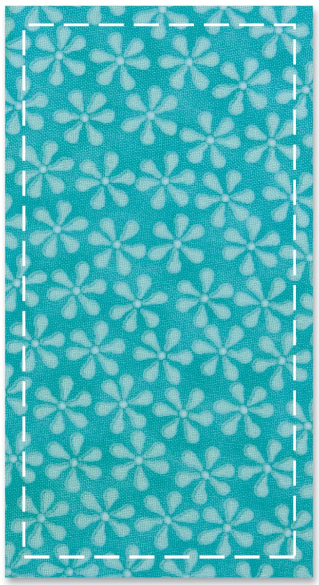 AccuQuilt Go Fabric Cutting Dies, Rectangle 3-1/2-Inch-by-6-1/2-Inch, Quilt Block 550-05
