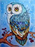 DIY 5D Diamond Painting Kits Full Drill Crystal Rhinestone Embroidery Pictures Diamond Arts (owl)