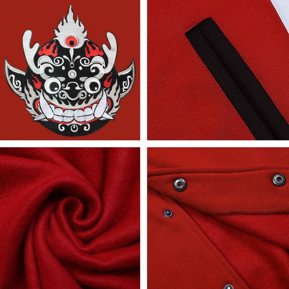 Amazon.com: Black Temptation Boys Baseball Cotton Jacket Coat, Custom Embroidered Baseball Jacket for Kids: Clothing