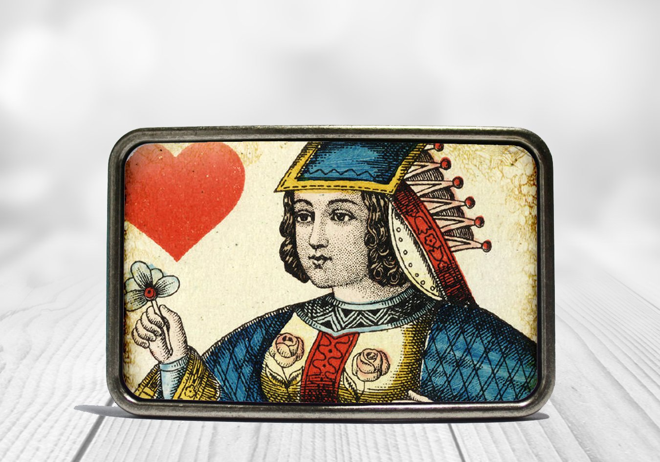 Queen of Hearts Belt Buckle