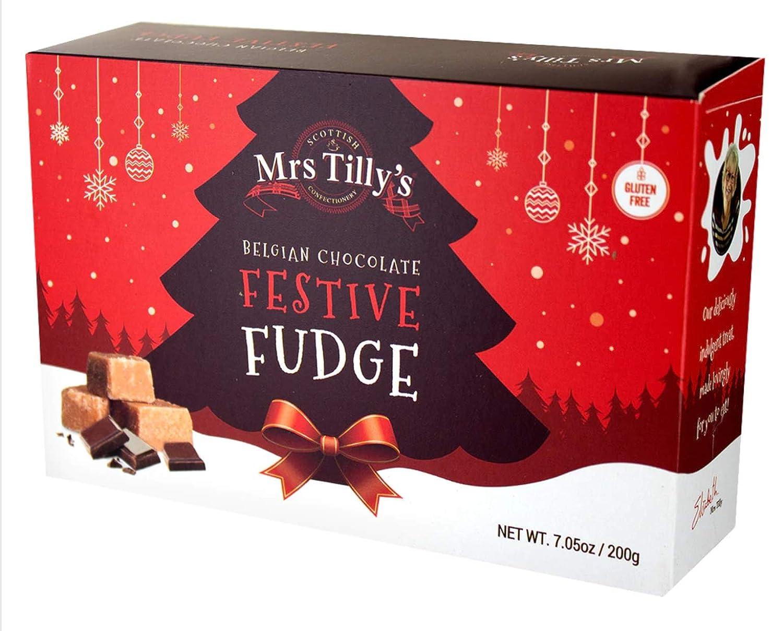Mrs. Tilly's Belgian Chocolate Festive Fudge 200 grams