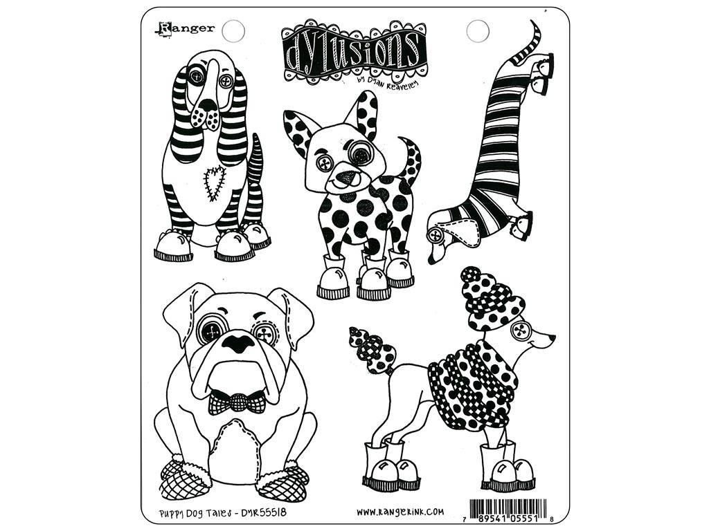 Ranger Stamp Puppy Dog Tales Dylusions StampPuppy