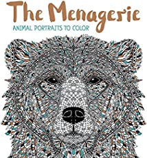 the menagerie animal portraits to color