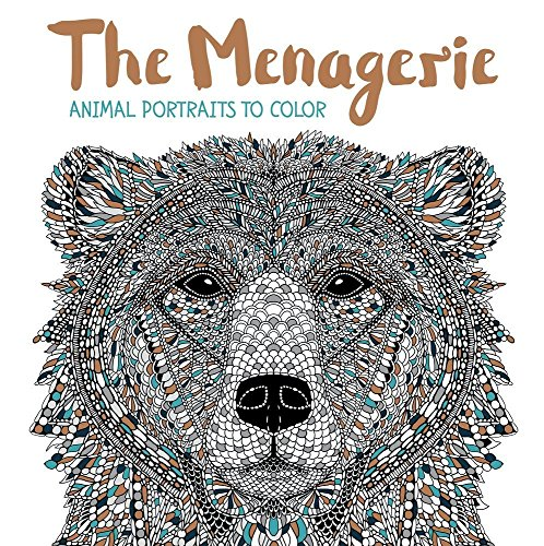 - The Menagerie: Animal Portraits to Color
