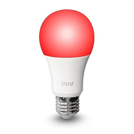 Innr Bombilla LED E27 conectada, color, RGBW (controlable vía smartphone, Philips Hue