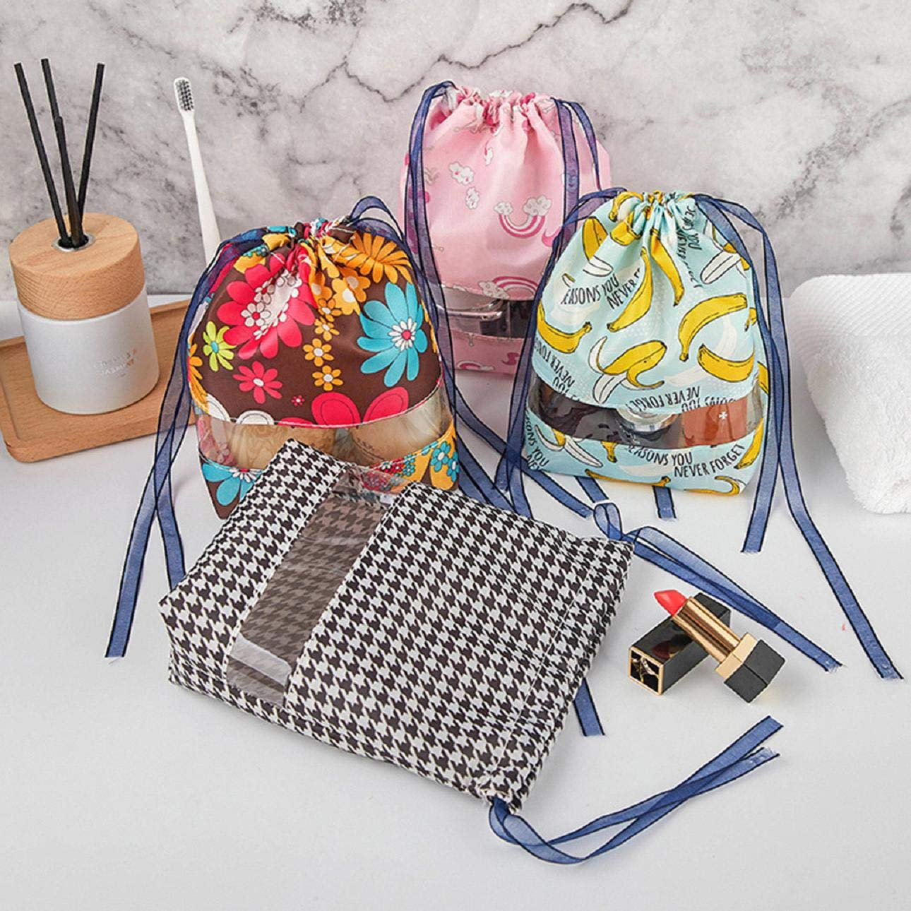 Buy Cinhent Travel Cosmetic Makeup Bags - Portable Prints