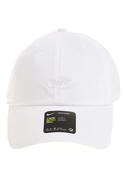 size 40 5af89 376ff Amazon.com  NIKE Women s Heritage 86 Cap (White, One Size)  Sports    Outdoors